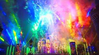 【4K】TDL Celebrate! Tokyo Disneyland / セレブレイト!東京ディズニーランド 【7/16 キャッスルフォアコート後方花壇後ろ ※2回目】