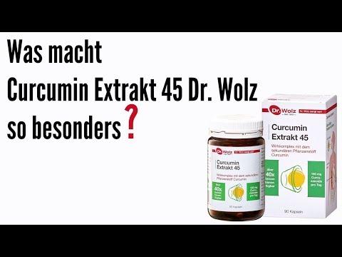 Curcumin Extrakt 45 Dr. Wolz - Der Wirkstoff aus der Kurkuma-Wurzel mit hoher Wirkung
