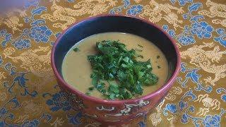 Суп-пюре из красной чечевицы.