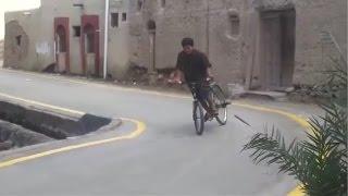 Дрифт на велосипеде. Арабский вариант.