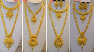 Latest Long Gold Necklaces Designs