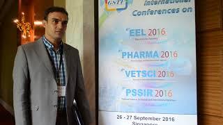 VETSCI 2016 Dr Alireza Raayat Jahromi - Global Science and Technology Forum