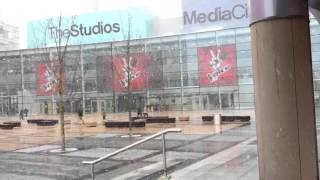preview picture of video 'Snow In Media City UK ..'