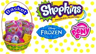 Disney Frozen Surprise Mystery Blind Bag Shopkins Season 2 EASTER BASKET MLP Fash'ems Unboxing