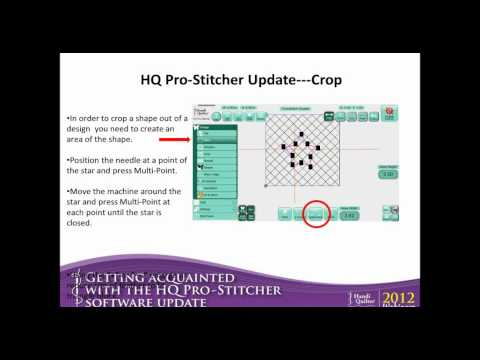September 2012 Webinar - A Look at Some New HQ Pro-Stitcher Software Features