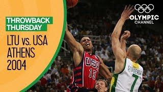 USA vs Lithuania - Basketball Tournament Bronze Medal Match | Athens 2004 Olympic Games