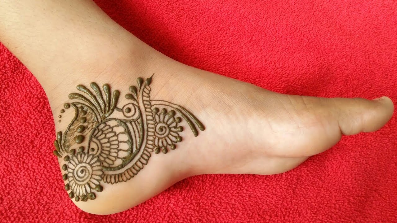 """<p style=""""color: red"""">Video : </p>Beautiful Feet mehndi design   New easy arabic mehndi for feet 2020-08-20"""