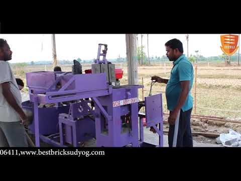 3 Cavity Fly Ash Bricks Making Machine Without Hopper