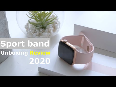 Apple Watch Bands- Sport Band Unboxing Review - Series 6 5 4 3 2020