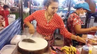 Тайские блинчики. о. Пхукет Пхукет Phuket. как делают тайские блинчики в Тайланде