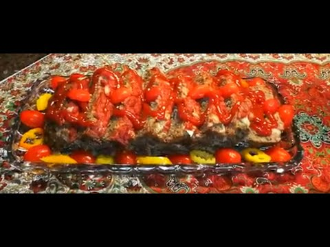 طرز تهیه رولت گوشت ،خوشمزه ولذیذ باآشپزخانه فریبا Easy meatloaf recipe