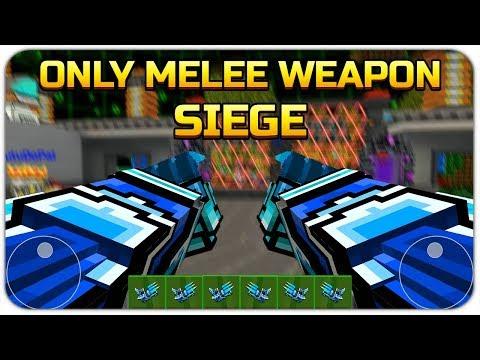 Using Only Melee Weapon in Siege - Pixel Gun 3D