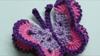 Beautiful crochet butterfly motif designs