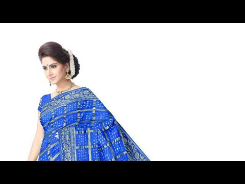 All Over Blue Color Hand Work Design Art Silk Bandhani Saree
