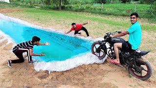 Riding Our Ducati Bike Underwater | क्या पानी के अंदर बाइक चल पायेगी ? Band Bajj Gayi😂 - Download this Video in MP3, M4A, WEBM, MP4, 3GP