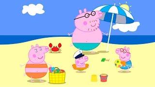 Свинка Пеппа на каникулах. Мультфильм игра для детей [1 серия]