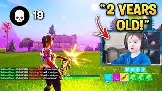 YOUNGEST Fortnite Streamers! (Mongraal, Sceptic, Slappie, Kids)