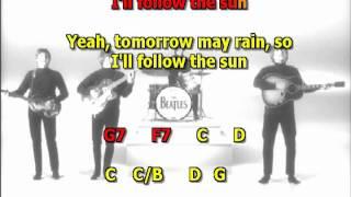 i ll follow the sun Beatles best karaoke instrumental lyrics chords cover