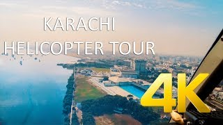 Karachi Helicopter Tour - 4K Ultra HD - Karachi Street View