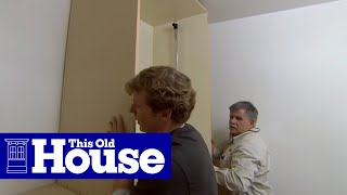 How To Build Walk-in Closet Storage | This Old House