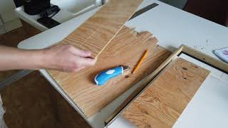 Cut thin plywood without saw and chippings