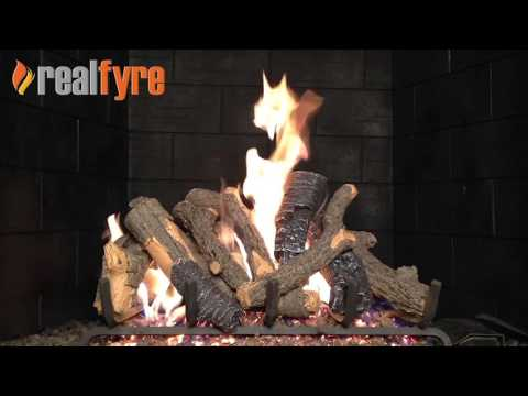 Peterson Charred Oak Stack Gas Logs Demonstration