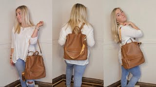 The Best Affordable Fashion Backpack You Need *amazon fashion backpack purse review* | Morgan Green