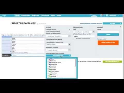 E-goi - Criar Lista de Contatos e Importar Base de Dados