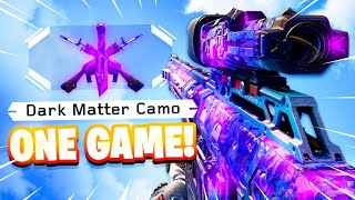 UNLOCKING Dark Matter in ONE GAME in BLACK OPS 3 2020...(BO3 5 Years Later)