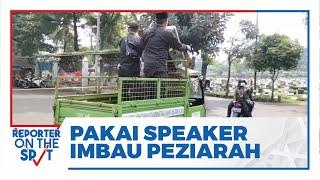 Petugas Keamanan TPU Tanah Kusir Keliling Pakai Speaker Portabel untuk Imbau Peziarah