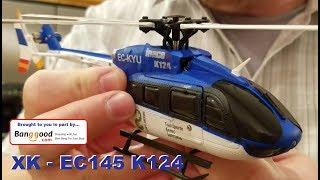 XK - EC145 / K124 - Heli Unboxing, Repair,  & Indoor Flight Review
