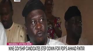 Nine Governorship Candidates Step Down For PDP's Fintiri