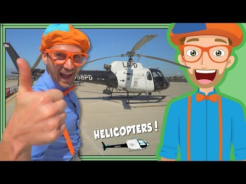 Download Blippi and the LAPD Helicopter | Educational Videos for Kids HD Video