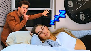 Sneaking Out In The Middle Of The Night PRANK On Girlfriend..
