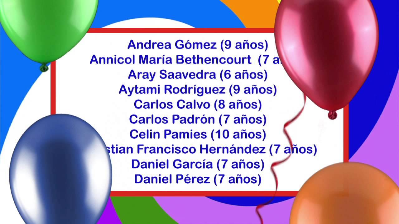 Archicumpleaños del 24 al 30 de Marzo