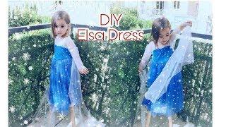 DIY Elsa Frozen Dress | Halloween Costume