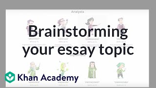 Brainstorming tips for your college essay