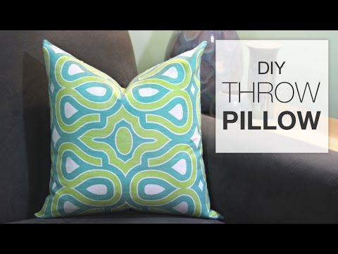 How to Sew a Decorative Throw Pillow