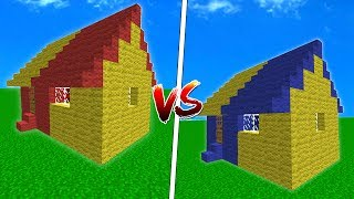 GALATASARAYLI EV VS FENERBAHÇELİ EV (Minecraft)