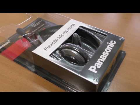 Panasonic RP-TCA430 headset for DECT phone unboxing