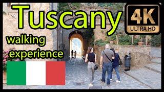 Tuscany Town Walking Tour Italy - 4k