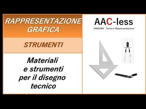 Materiali e strumenti per il disegno tecnico