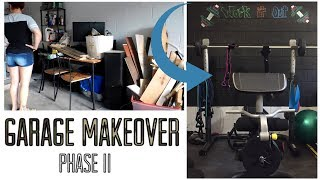 Garage Chalkboard Wall + Organization & Makeover Phase II ( Home Gym)
