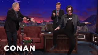 Mix - Jim Carrey Crashes Jeff Daniels' CONAN Interview  - CONAN on TBS