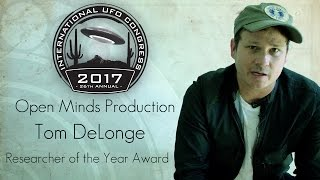 Tom DeLonge  2017  UFO Researcher Of The Year Award