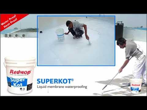 SUPERKOT- Heavy duty reinforced acrylic water proof coating