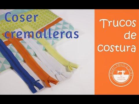 Truco de costura: coser cremalleras, cierres o zíppers