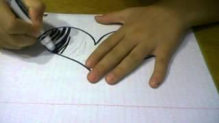 how to draw a zebra print heart