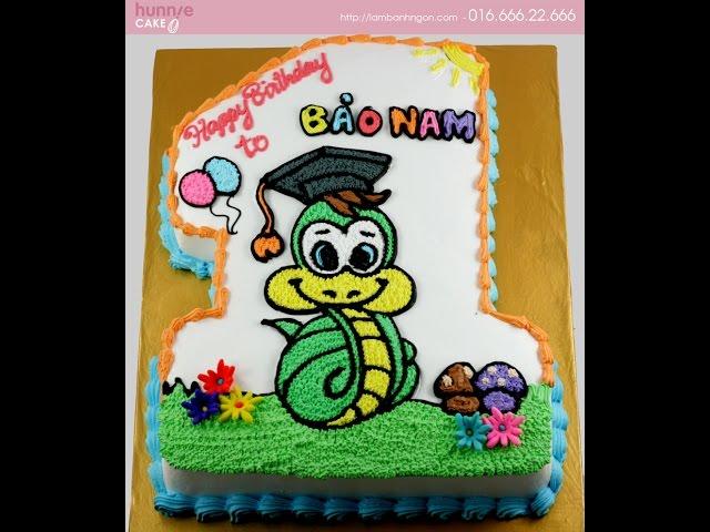 Bánh sinh nhật tuổi rắn đẹp, tuổi tỵ, bánh kem, fondant, handmade về tuổi rắn