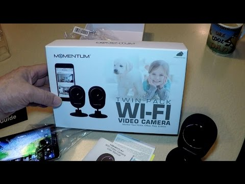 Momentum Wi Fi Security Camera Set up and Review